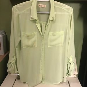 Women's Gorgeous hollister button down top sheer